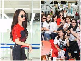 Hoa hậu Chuyển giới Hương Giang Idol được người hâm mộ vây kín tại sân bay Thái Lan trước khi về nước