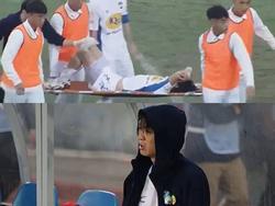 Fan xót xa khi thấy Tuấn Anh khóc sau khi dính chấn thương nặng