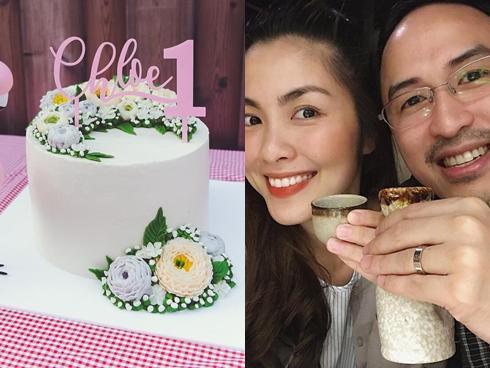 Mừng con gái thôi nôi, Tăng Thanh Hà tự tay làm bánh 'dành cho công chúa nhỏ'
