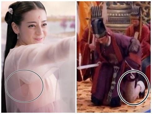 Khôi hài diễn viên Trung Quốc diện áo rách, quên mặc quần trên màn ảnh
