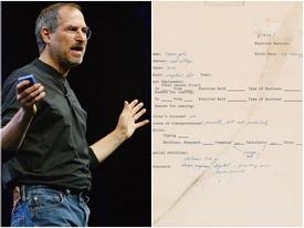 Đơn xin việc của Steve Jobs có giá gần 4 tỷ đồng