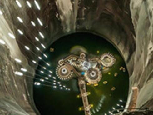 Công viên giải trí khổng lồ trong lòng mỏ muối