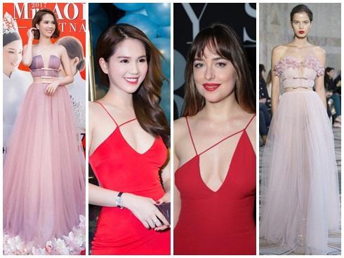 Đã là năm 2018, Ngọc Trinh vẫn một mực bảo vệ thương hiệu 'mỹ nhân chuyên váy nhái'