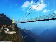 Trung Quốc mở cửa cầu đáy kính cao hơn tòa nhà 65 tầng