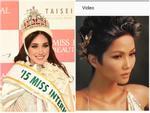 Hoa hậu Quốc tế Edymar Martinez bất ngờ 'thả tim' khi xem H'Hen Niê tạo dáng