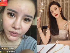 Vô tình tắt chế độ làm đẹp khi livestream, hot girl Trung Quốc lộ mặt thật gây shock
