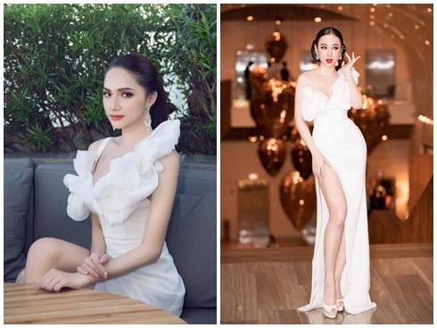 Hoa hậu Hương Giang 'thách thức' Angela Phương Trinh khi đụng váy xẻ đùi cao tận eo