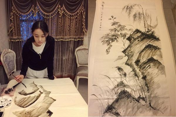 Mỹ nhân thị phi nhất showbiz Hoa ngữ, Lý Mạc Sầu Trương Hinh Dư không ngờ vẽ tranh lại mê hồn đến thế!-3