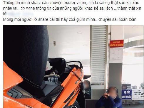 Sự thật câu chuyện 'Mẹ già vay tiền mua xe Exciter cho con trai': Chủ xe đã lên tiếng đính chính