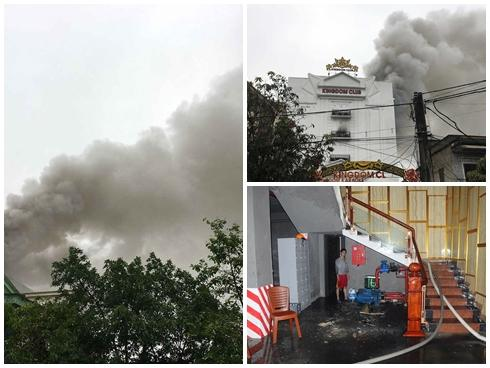 Cháy lớn tại quán karaoke tại Hà Tĩnh