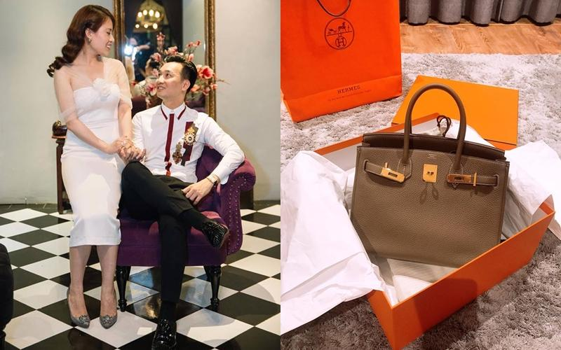 MC Thành Trung chúc mừng sinh nhật vợ với chiếc túi đắt tiền Hermes khi bước sang tuổi 27