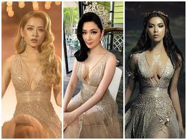 Phô diễn vòng 1, Hoa hậu Nguyễn Thị Huyền sexy chẳng kém đàn em Minh Tú - Chi Pu