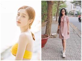Street style giới trẻ Việt: Jun Vũ mặc áo 1 gang sexy tột bậc đối lập Hoàng Yến Chibi giản dị váy một màu