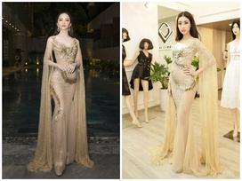 Vừa về nước, Hương Giang mặc lại váy xuyên thấu của Đỗ Mỹ Linh xuất hiện nóng bỏng tại sự kiện