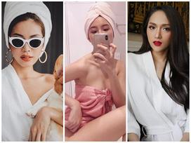 Mỹ nhân showbiz Việt chỉ cần mặc áo choàng tắm vẫn gợi cảm hết nấc