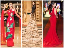 Angela Phương Trinh 'gây lú' với điệu múa uyển chuyển - Đỗ Mỹ Linh diện áo dài 10m nổi bật nhất thảm đỏ tuần qua
