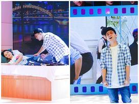 Hoài Lâm tự tin diễn cảnh đưa bạn gái đi khách sạn trước hàng ngàn khán giả