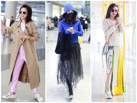 Dự sự kiện thì giản dị ấy thế mà style sân bay của Lý Băng Băng lồng lộn như trình diễn thời trang