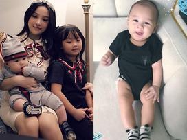 Hot girl - hot boy Việt: Huyền Baby dùng mọi chiêu trò lấy nụ cười siêu yêu của con trai 5 tháng tuổi