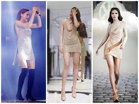 Lần đầu mặc váy hở bạo, Phạm Hương 'đụng hàng' ngay Minh Tú, Hồ Ngọc Hà
