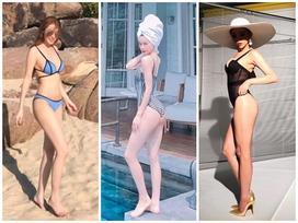 Mới chớm hè, Quế Vân - Hồ Ngọc Hà đã diện bikini khoe dáng bốc lửa