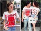 Hoa hậu Kỳ Duyên 'men' không kém Kim Lý khi đụng áo hàng hiệu
