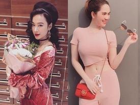 Hai nàng Trinh của Vbiz say mê màu hồng như điếu đổ: nàng cực sexy, nàng đậm sến sẩm
