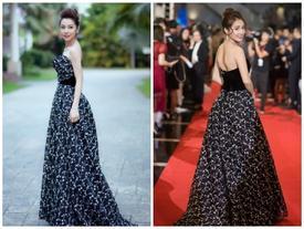 Chưa yên chuyện tình cảm, bạn gái Trường Giang tiếp tục vướng 'phi vụ' đụng váy với Jennifer Phạm