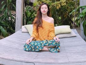 Hot girl - hot boy Việt: Midu ngồi thiền, triết lý sâu sắc về những bộn bề cuộc sống