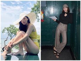 Street style sao Hàn: Jessica diện bikini sexy đối lập Krystal kín cổng cao tường