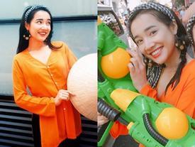 Nhã Phương ướt nhẹp 'quậy banh nóc' trong Lễ hội té nước Thái Lan