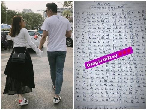 Hot girl - hot boy Việt: Bạn trai viết 'bản kiểm điểm' xin lỗi Ngọc Thảo vì tội ngang bướng