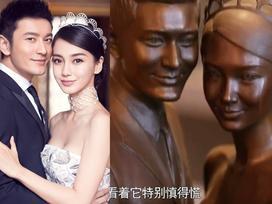 Vợ chồng Huỳnh Hiểu Minh -  Angela Baby tự đúc tượng đặt trong phòng riêng