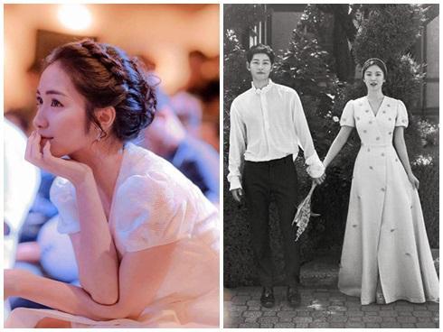 Sự thật chuyện Hoà Minzy mặc thiết kế nhái từ váy cưới của Song Hye Kyo