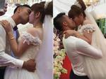 Hôn 'bất chấp' kéo dài 3 phút trong đám cưới, cặp cô dâu chú rể gây xôn xao