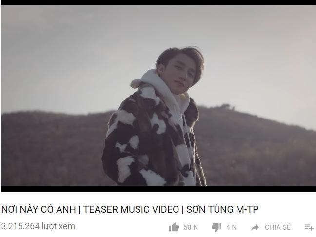 Sơn Tùng M-TP nắm giữ thêm thêm 1 kỷ lục ở Vpop: teaser MV đạt lượt view khủng nhất
