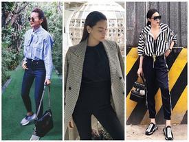 Xuất sắc trên sàn catwalk, Thanh Hằng - Hà Hồ tiếp tục 'chiếm sóng' street style đẹp tuần qua