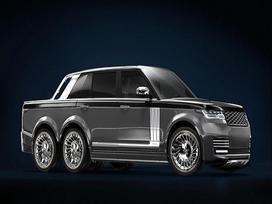 SUV siêu sang Range Rover hóa thân thành 'bán tải sáu bánh'