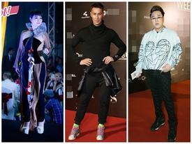Trung Quân Idol diện quần bó sát - Mai Thu Huyền váy áo rườm rà đứng đầu top sao mặc xấu tuần qua