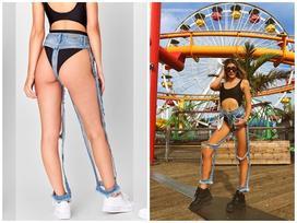 Quần jeans 'có cũng như không' khiến cộng đồng mạng hoang mang
