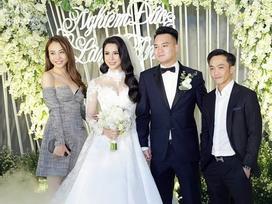 Cường Đô La công khai sánh đôi người yêu mới đến dự đám cưới Diệp Lâm Anh