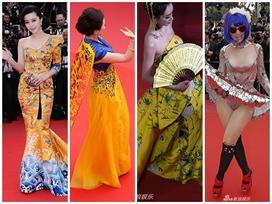 Trò lố thảm đỏ Cannes ngày 2: Ngã nhào giữa thảm đỏ, chẳng ngại khoe nhũ hoa