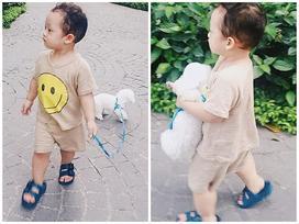 Hot girl - hot boy Việt: Khoai Tây siêu đáng yêu cùng mẹ Ly Kute đưa thú cưng đi dạo phố