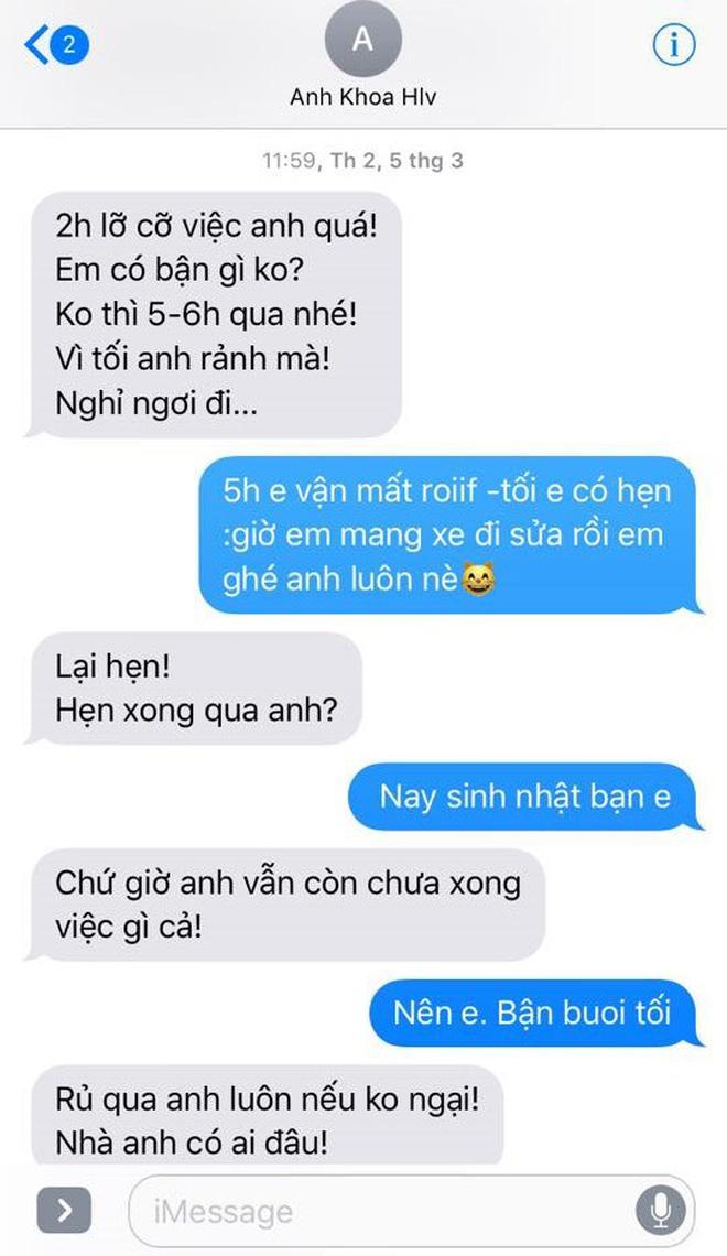 Phạm Lịch đăng tải toàn bộ tin nhắn giữa cô và Phạm Anh Khoa lên trang cá nhân 22