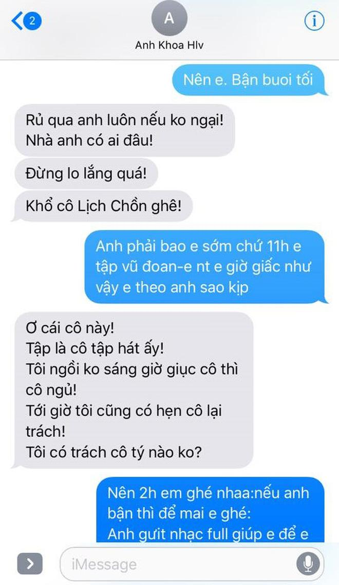 Phạm Lịch đăng tải toàn bộ tin nhắn giữa cô và Phạm Anh Khoa lên trang cá nhân 33