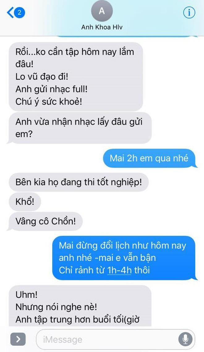 Phạm Lịch đăng tải toàn bộ tin nhắn giữa cô và Phạm Anh Khoa lên trang cá nhân 44