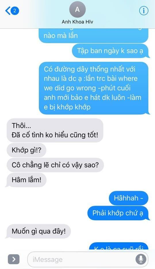 Những tin nhắn được cho là giữa Phạm Anh Khoa và Phạm Lịch.