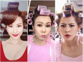 Cười 'banh nóc' với các kiểu làm tóc cực chịu chơi của sao Việt hạng A