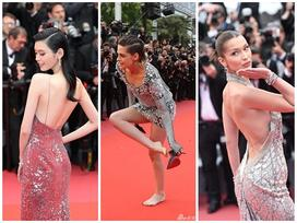 Kristen Stewart phá lệ đi chân trần đến Cannes bất chấp dàn mỹ nhân đồng loạt khoe lưng gợi cảm