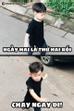 Nam Thương chia sẻ khoảnh khắc đáng yêu của con cùng dòng caption: